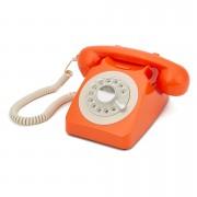 GPO Retro 746 Rotary Dial Telephone - Orange
