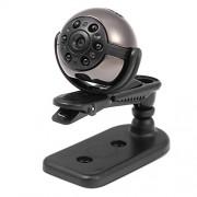 GHZHEGIZHUND Mini videocámaras SQ9 HD 1080P Deportes Rotación de 360 grados Cámara ligera Mini DV de 6 noches, Soporte Detección de movimiento y Visión nocturna por infrarrojos y Tarjeta TF Cámara deportiva