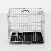 PawHut Transportadora Prata ABS, Aço 91x61x67 cm