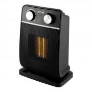 HOME elektromos, álló, ventilátoros, kerámia fűtőtest, fekete színben, max 1800 W teljesítménnyel, mechanikus termosztáttal, IP20 védelemmel, kapcsolható oszcillálás (70°) HOME (FK 29)