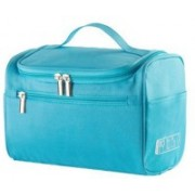 Insasta Travel Cosmetic Makeup Toiletry Case Wash Organizer Storage Pouch Toiletry Bag Travel Organizer Toiletry Kit Travel Bag Travel Toiletry Bag Unisex-Blue Waterproof Multipurpose Bag(Blue, 1 L)