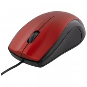 DELTACO trådad optisk mus, 1200 DPI, röd