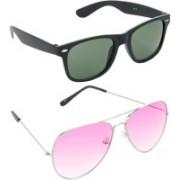 Hrinkar Wayfarer Sunglasses(Green, Pink)