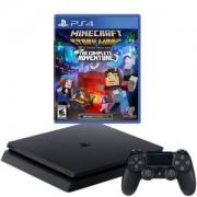 Конзола PlayStation 4 Slim 500GB Black, Sony PS4 + Игра Minecraft: Story Mode - The Complete Adventure
