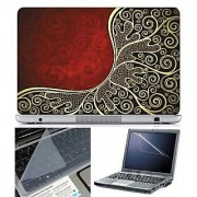 FineArts Laptop Skin Abstract Series 1017 With Screen Guard and Key Protector - Size 15.6 inch