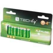 Techly Blister 12 Batterie High Power Mini Stilo AAA Alcaline LR03 1,5V