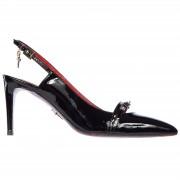 Cesare Paciotti Decolletes decoltè scarpe donna con tacco pelle vernice luce