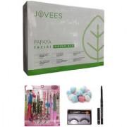 Jovees Papaya Facial Value Kit (315 G) with Manicure-Pedicure Set Combo