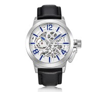 IK COLOURING K003 Business Style Male Wristwatch Leather Strap Mechanical Watches