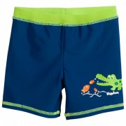 Playshoes Kid`s UV-Schutz Shorts Krokodil Pantaloncino da bagno (122/128, blu/verde)