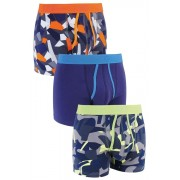 Mens Next Camo A-Fronts Three Pack - Fluro Print