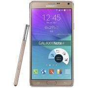 "Telefon Mobil Samsung Galaxy Note 4 Duos, Procesor Ouad-Core 2.7GHz Krait 450, Super AMOLED capacitive touchscreen 5.7"", 3GB RAM, 16GB Flash, 16MP, 4G, Wi-Fi, Dual Sim, Android (Auriu) + Cartela SIM Orange PrePay, 6 euro credit, 4 GB internet 4G, 2,000 mi"