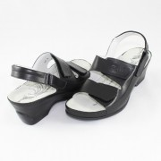 Sandale piele naturala dama - negru, Dr. Batz - medicinali - VKSZ-Black