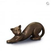Dieren-urn van keramiek: Poes (500ml)
