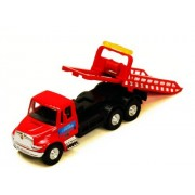 International 24 Hour Towing Red Rollback Tow Truck Diecast with Pullback Action