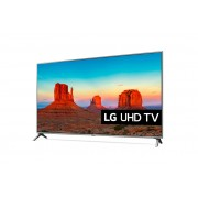 "LG 50UK6500MLA LED TV 50"" Ultra HD, WebOS 4.0 SMART, T2, Silver, Two pole stand"