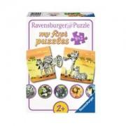 Моят първи пъзел Ravensburger 9 х 2 части - Семейство сладки животни, 7006943