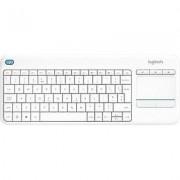 Logitech Wireless K400 Plus Wireless keyboard White Built-in touchp...