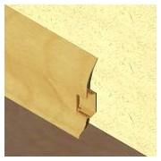 PBC605 - Plinta LINECO din PVC culoare stejar deschis pentru parchet - 60 mm