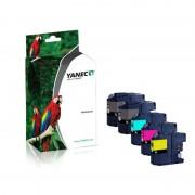 Yanec Brother LC-125XL / LC-127XL Zwart en Kleur (5-Pack)(Yanec)