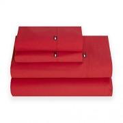 Tommy Hilfiger Signature Solid Pilow Case Par, King, Rojo 2