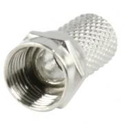 F connector schroefbaar, 7.0 mm.