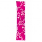 Merkloos Verjaardags banner ballon roze
