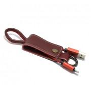 USB data kabal Pendant za Iphone lightning crveni
