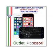 Sostituzione Display Rotto per Apple Iphone 6 Riparazione Cambio Lcd Vetro Touch Touchscreen