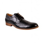 Hirels Black Full Wing Brogue