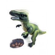 Lvnv Toys@ Smithsonian RC T.Rex Radio Controlled Animated Action Walking Dinosaur with Shaking Head, Light Up Eyes and Sounds(Color May Vary)