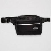 Stussy ripstop nylon waist bag Black