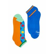 Sosete HAPPY SOCKS unisex 2-PACK ATHLETIC BIG DOT LOW SOCK
