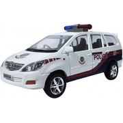 M N Overseas Die Cast Push and Pull Along Police Car , White