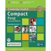 Compact First Students Book with Answers with CDROM with Testbank b...