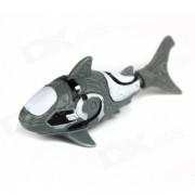 ROBO DE PESCADO Shark Estilo Electronic Toy Fish - Negro + blanco (2 * LR44)