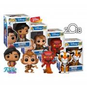 Set De 4 Piezas Coleccionables: Aladdin, Red Jafar, Rajah Y Abu Funko Pop De La Pelicula De Disney Aladdin
