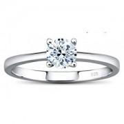 Silvego Stříbrný prsten MADISON se Swarovski Zirconia JJJR2339sw 60 mm