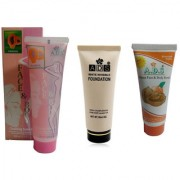 ADS White invisible foundation / premium scrub / papaya Cleansing scrub gel