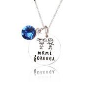 Mami - colier personalizat din argint