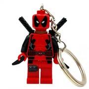 Generic Deadpool Figure Super Hero Keychain Keys Custom Ring Keychains DIY Handmade Key Chain Building Blocks Toys Gift A013