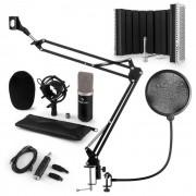Auna CM003 Juego de micrófono V5 Micrófono de condensador Convertidor USB negro (60001994-V5KO)