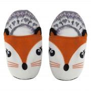 Cosy & Trendy Pluche kersenpit warmte magnetron vossen sloffen/pantoffels voor volwassenen