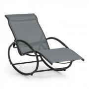 Santorini Cadeira de Baloiço e Repouso Alumínio Poliéster Cinza