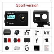 """SOOCOO S200 Cámara de Acción Ultra HD 4K NTK96660 + IMX078 con WiFi Gryo control de voz micrófono externo GPS 2,45 """"touch lcd(#Negro)(#Bundle 4)"""
