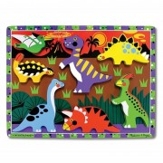 Melissa Doug puzzle lemn in relief dinozauri