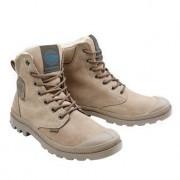 Palladium Waterproof Leder-Boots, 40 - Hellbraun