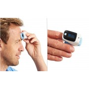 MedDay® Pulzný oximeter 4v1 SpO2+Pulz+bezkontaktný teplomer+PI
