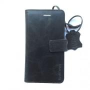 Radicover Mobilcover iPhone 5/5¨/SE sort Exclusive , ægte læder, flipside, gedeskind - 1 Stk