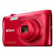 Nikon Coolpix A300 compact camera Rood